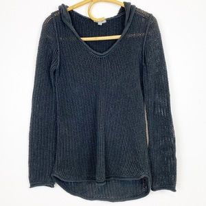 James Perse | Open Knit Hoodie